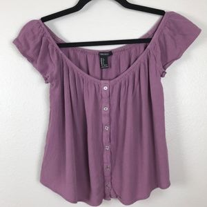 3/$20 Forever 21 Purple Crepe Cropped Top